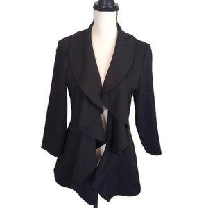 Calvin Klein Women's Black Ruffle Jacket